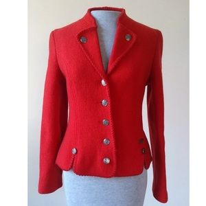 Jackets & Blazers - Made in Germany Wool Red Jacket S